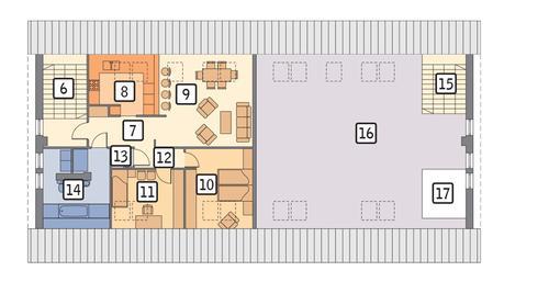 Rzut poddasza POW. 243,4 m²