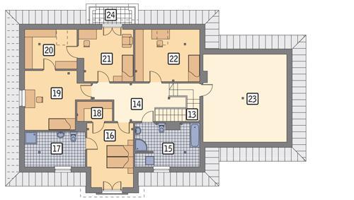 Rzut poddasza POW. 160,6 m²