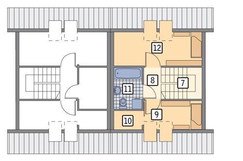 Rzut poddasza POW. 36,6 m²