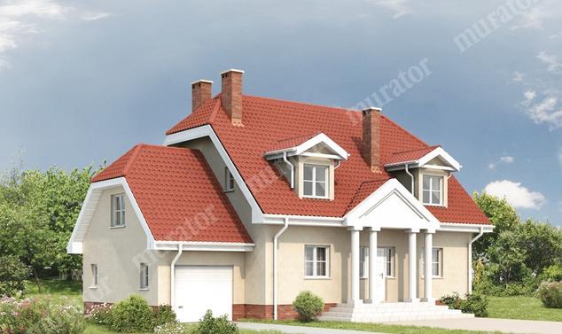 Projekt domu:  Murator C119   – Dawny
