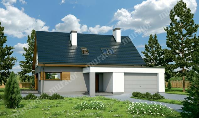Projekt domu:  Murator M143a   – Niebywały - wariant I